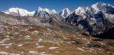 Langtang Himal, Shisha Pangma 8013m behind on the left