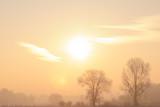 Sunrise, Silesian Lowland near Kobierzyce