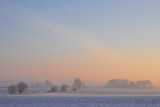 Sunrise, Silesian Lowland near Cieszyce