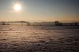 Sunrise, Silesian Lowland near Lagiewniki