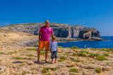 Me with Aleksander, Dwejra Bay