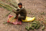 Elephant keeper preparing elephant's breakfest, Royal Chitwan NP
