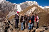 Aneta with guys, Kyanjin Ri lower summit 4328m