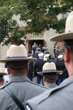 nts troopers  going into church