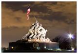 The Iwo Jima Memorial at night
