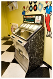 Juke box that played actual records