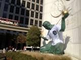 Spirit of Detroit gets the Tigers spirit