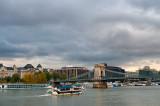 Danube River And Chain Bridge