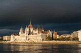 Parliament Building Under Stormy Sky