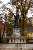 Lajos Fountain At Corvin Square