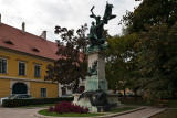 Parade Square And The Soldier Statue