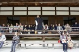 A buddhist monk tells a story in Kyoto @f5.6 D700