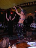 m with belly dancer