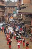Wedding procession in Nepal