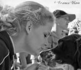 Vrouw met hond (Drentse patrijs) - echte liefde