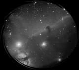 Looking through my TEC 140 refractor in my backyard