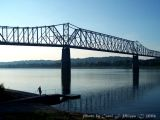 Ohio River at Milton, Kentucky (USA).
