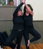 Anni and Donna, Partners in Yoga