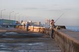 Malecon fisherman
