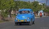 blue european car