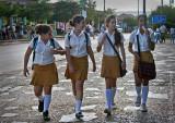 school girls cuba
