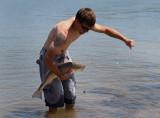 Fisherman with Redfish