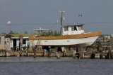 Boat in dry dock
