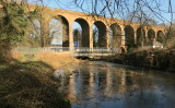 Farningham   Viaduct   with   reflections.