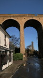 Farningham  viaduct, with  old  mill  chimney