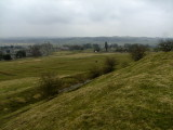 William's  Hill looking back to Middleham  Castle.
