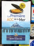 we are reminded that the bay of Mont St. Michel is the source for the mussels we eat in Paris!