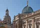 Zitronenpresse der Hochschule der bildenden Künste und Frauenkirche