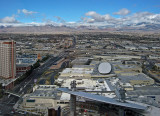 View above Fashion Show Mall and Summerlin