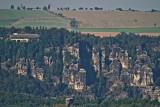 Blick von der Festung Königstein auf die Bastei