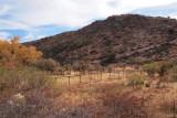 Corral at Hackberry Creek pond. FR 315