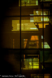urban window reflection