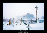 Snow in the graveyard at St. Lawrence