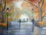 Washington Square Park in the Rain