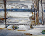 Hudson View in Winter (Bellow's Study)