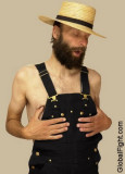 amish man overalls wearing coveralls no shirt.jpg