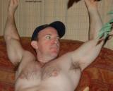 young hairy baseball player flexing.jpg