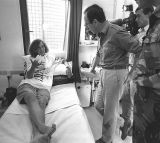 Wounded Bosnian interpretor with Rifkind