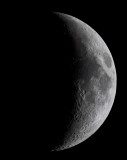 Waxing Crescent Moon, March 10, 2011