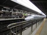 Shinkansen (Bullet Train) arriving at Kyoto