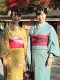 Traditional kimono worn in Kyoto