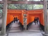 Twin avenues of torii gates at the Fushimi Inari Shrine