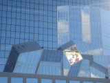 Kyoto Station facade, late afternoon reflections