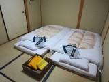 Our Kyoto ryokan (Guest House) - sparse, but with full bathroom