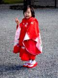 Three-year-old in kimono