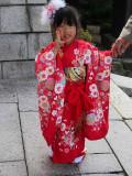 Three year old in kimono